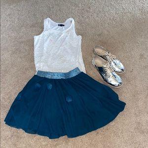 Zara fluffy pompon skirt